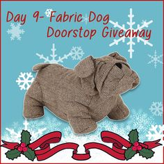 Today repin to win this adorablefabric bulldog doorstop.It willliven up any room and make a much better addition than a boring old door wedge...