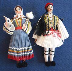Greek Souvenir Dolls by AproposAntiques on Etsy