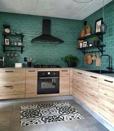 Kitchen interior design – Home Decor Interior Designs Loft Kitchen, Apartment Kitchen, Home Decor Kitchen, Interior Design Kitchen, Home Kitchens, Kitchen Tiles, Küchen Design, House Design, Yanko Design