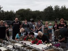 A town mourning the dead from MH17, which fell down on their village pic.twitter.com/7Urt8A0mlC