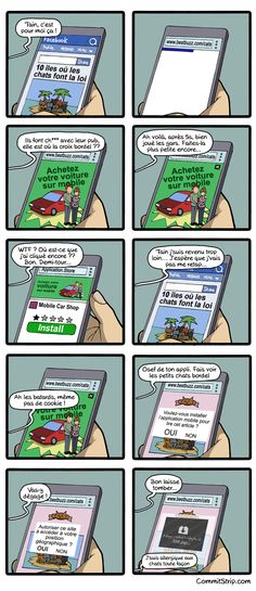 LOL - When you browse on the mob Funny Cartoons, Funny Comics, In 2015, Geek Humor, Mobile Marketing, Mobile Application, Lol, Shit Happens, App Stores