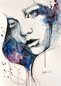 Amazing watercolor portraits from Jane Beata