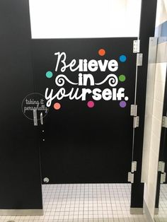 Good Photos Bathroom Door school Tips Because of living space restrictions as well as expertise of constant water plus moisture content, y Bathroom Decals, Bathroom Stall, Bathroom Quotes, Bathroom Doors, Bathrooms, Paint Bathroom, Bathroom Inspo, Bathroom Vanities, Bathroom Inspiration