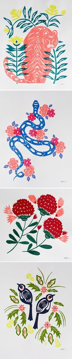 Papercut Illustration by Stacey Elaine
