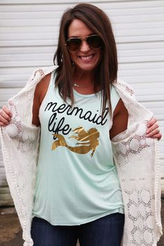 Mermaid Life is where it's at. When we are not in the water in our real swim-able tails from Fin Fun Mermaid this is what we wear. Kelsey Rose, Summer Outfits, Cute Outfits, Disney Outfits, Swagg, Dress Me Up, What To Wear, Style Me, Stylish