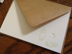 supplies: thank you in american sign language ASL letterpress notecards