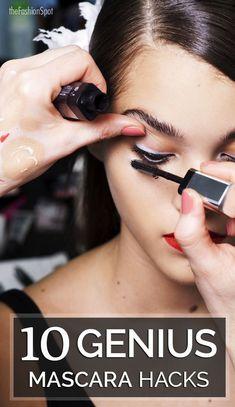 10 Genius Mascara Hacks That Will Change Your Life ~SheWolf★ Beauty Make Up, Hair Beauty, Beauty Skin, Beauty Care, Ysl Beauty, Beauty Book, French Beauty, Beauty Shots, Beauty Secrets