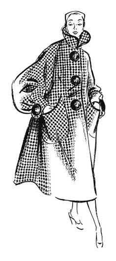 Detail from a 1956 Astra Klad ad #fashion #illustration