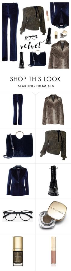 """Crushing on Velvet"" by sproetje ❤ liked on Polyvore featuring Altuzarra, Alessandra Rich, LC Lauren Conrad, Oxford, EyeBuyDirect.com, Dolce&Gabbana, velvet, fauxfur and WearIt"