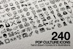 Check out 240 Pop Culture Icons by Salih Gonenli on Creative Market