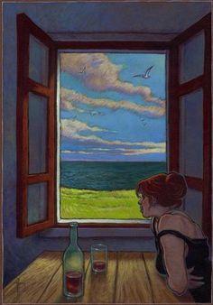 """miguelanxo prado, """"Sara en la ventana"""""""