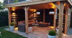 Douglas veranda with garden cupboard: in the wide range of Houthandel Woer … Patio Gazebo, Pergola Canopy, Backyard Patio Designs, Modern Backyard, Pergola Designs, Garden Bar Shed, Outdoor Rooms, Outdoor Decor, Garden Buildings