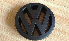 VOLKSWAGEN MATT BLACK FRONT GRILL BADGE EMBLEM VW GOLF MK5 POLO 9N3 GTI TFSI TDI