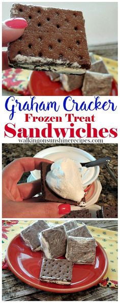 Cool Whip Graham Cracker Sandwiches from Walking on Sunshine Recipes. Your family will love these delicious treats and you'll love that they're low calorie!