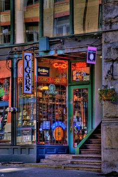 Seattle, Washington, US~~ (Pioneer Square in Seattle)~~ HDR Cigar Store Photograph  - Cigar Store Fine Art Print