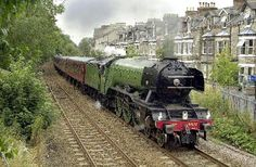 Find out more about this historic steam locomotive and the appeal to put her back on the rails. Steam Trains Uk, Uk Rail, Flying Scotsman, National Railway Museum, Steam Railway, Railway Posters, Old Trains, British Rail, Rolling Stock