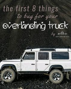 Figuring out what overlanding gear to buy and which mods to do first for your truck can be a pain! We walk through getting your adventure mobile ready for your first trip and beyond! Overland Gear, Overland Truck, Overland 4runner, Jeep Camping, Camping Life, Camping Ideas, Land Rover Defender 110, Landrover Defender, Defender 90