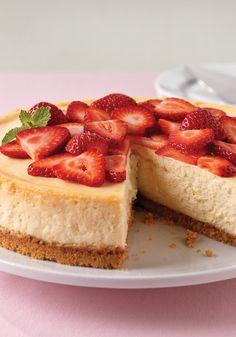 Cheesecake clásico philadelphia- La receta clásica de cheesecake de las fiestas. Hay otra cosa que sabe o cocina como PHILADELPHIA queso crema? Mmmm. :)