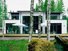 Stone house with lighty windows
