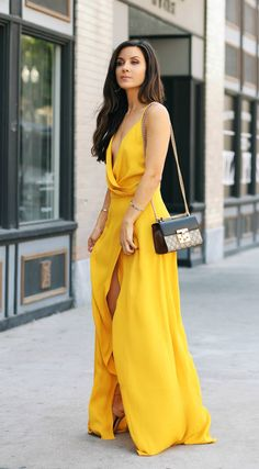 Yellow Maxi (via @andeelayne)