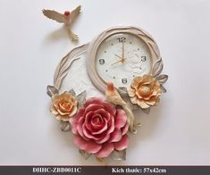 Clock Craft, Art N Craft, Paper Clay, Clay Art, Beaded Door Curtains, Wall Clock Design, Mural Painting, Cold Porcelain, Clay Crafts