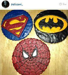 Superheroes and villians cookies .marvel,superman,batman,spiderman