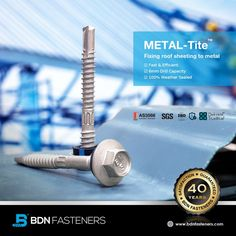 BDN Fasteners® offer a full range of Australian AS3566 Standard self-drilling and self-tapping screws for steel to steel and steel to timber applications in various coating options to cope with different environments. 👍 40 Years Warranty 👍 SGS Certified 👍 100% Made In Taiwan Steel Trusses, Roof Trusses, Roofing Screws, Roof Cladding, Thermal Expansion, Steel Sheet, Fasteners, Drill