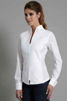 beyaz gömlek - dik yaka