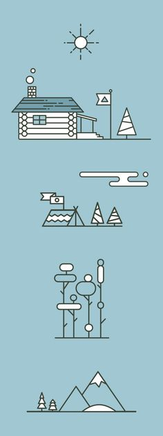 The Great Outdoors by Micah Lindenberger, via Behance