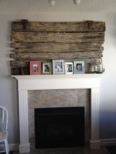 Old barn door to cover TV hole.
