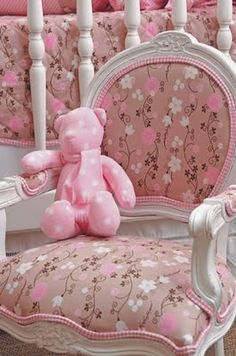 Pretty Floral Pink Chair.