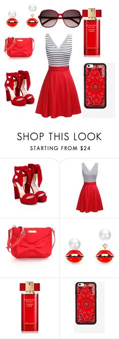 """""""California girls"""" by annaii14 ❤ liked on Polyvore featuring Jimmy Choo, Kate Spade, Estée Lauder and Yves Saint Laurent"""