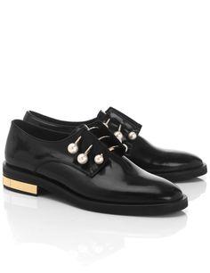 COLIAC Black Leather Derby Fernanda Shoes. #coliac #shoes #shoes