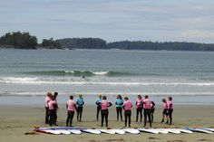 Surf Sister - Tofino Surf Camps. This could be fun to do with Mike this spring/summer!
