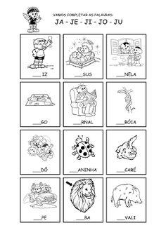 Alfabetizando com Mônica e Turma: Família silábica - J