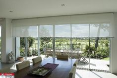 Roller blinds instead of curtains. Indoor Blinds, Diy Blinds, Fabric Blinds, Curtains With Blinds, Blinds For Windows, Roman Blinds, Privacy Blinds, Blinds Ideas, Transom Windows