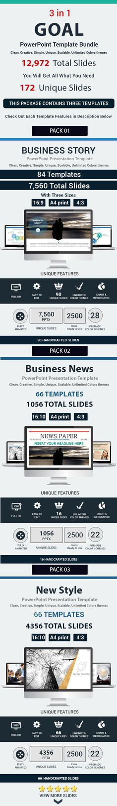 Goal 3 in 1 PowerPoint Template Bundle #design #slides Download: http://graphicriver.net/item/-goal-3-in-1-powerpoint-template-bundle/12814094?ref=ksioks