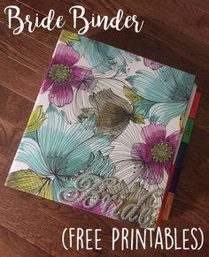 Bride Wedding Planner Binder | Free Printables | Malmy Madness