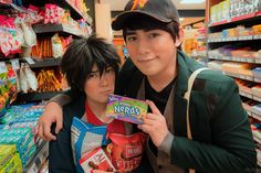 Big Hero 6 cosplay: Hiro Hamada and Tadashi and their candies and their nerds.