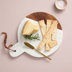 Marble + Wood Cutting Board - Paddle | west elm