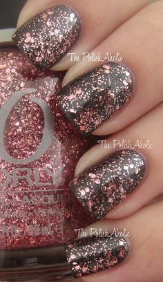 Orly, You Are Not Alone. This is a mix of soft pink glitter in a clear base. I love these different sizes of glitters xx