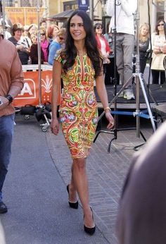"Jordana Brewster stops by the Grove for an interview with Mario Lopez for ""Extra!"" on February 25, 2013 in Los Angeles, California"