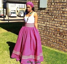 Awesome African Shweshwe Dresses for Women 2017 - Reny styles Latest African Fashion Dresses, African Print Dresses, African Dress, African Prints, Street Style 2017, African Attire, African Wear, Xhosa Attire, Seshoeshoe Designs