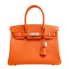 987b988962 Authentic Hermès 30 Cm Feu Orange Epsom Leather Birkin Bag Hermes Orange