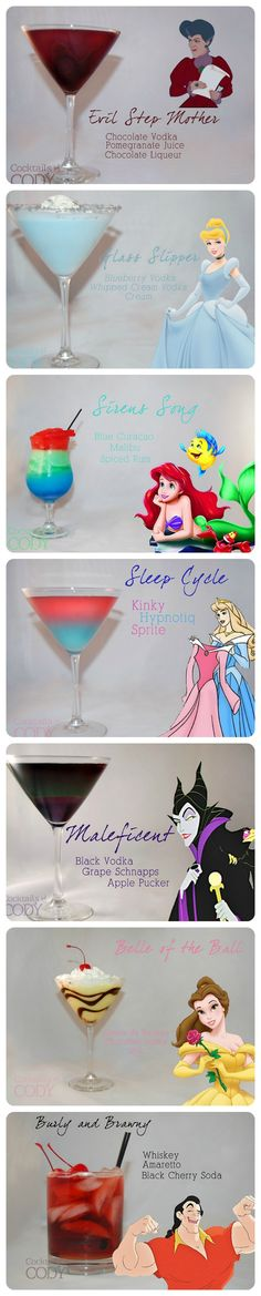 Disney cocktails.  The Burly and Brawny - I am SO there!  Whiskey and Amaretto, YES please!!!