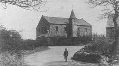 Old photograph of New Monkland Church, Airdrie, Scotland