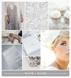 [White +] Silver | Brooklyn Bride - Modern Wedding Blog