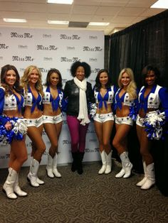 Who doesn't love the Dallas Cowboys Cheerleaders???? Miss Me Jeans Fashion Event