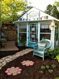 Outdoor Rooms, Outdoor Gardens, Outdoor Lounge, Outdoor Office, Backyard Office, Craft Shed, Craft House, Flea Market Gardening, Gardening Blogs