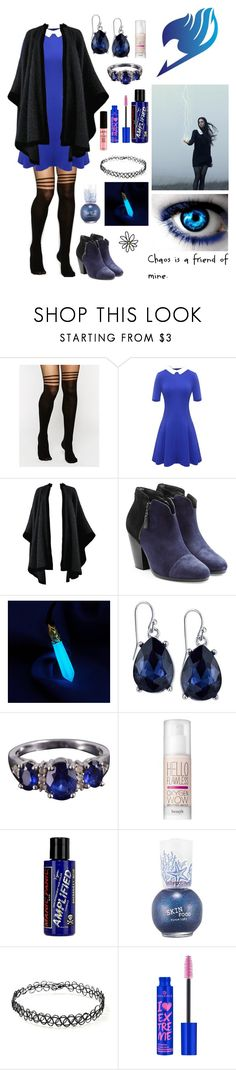 """Fairy Tail OC//Violet Howler"" by kain-loves-shawn ❤ liked on Polyvore featuring ASOS, Yves Saint Laurent, rag & bone, 2028, Benefit, Manic Panic NYC, Skinfood, Forever 21, NYX and ADAM"